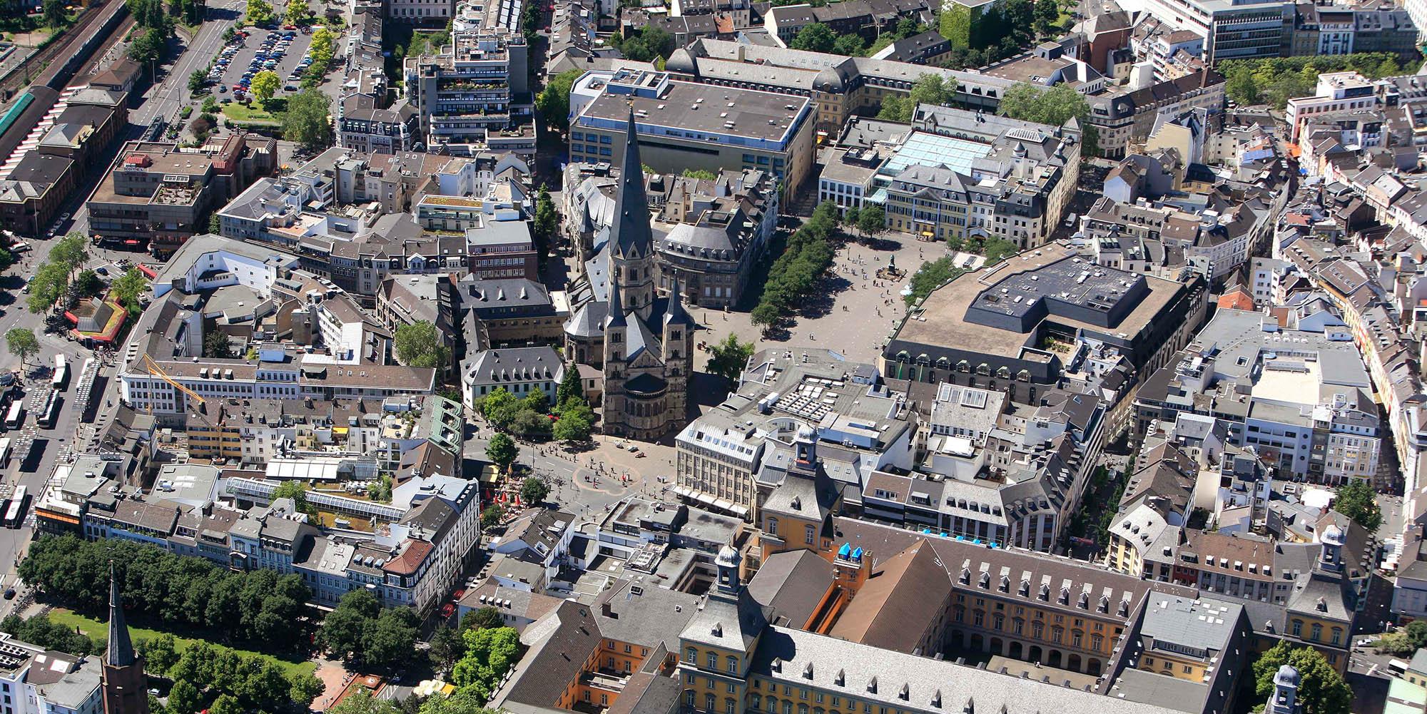 Luftaufnahme Stadt Bonn